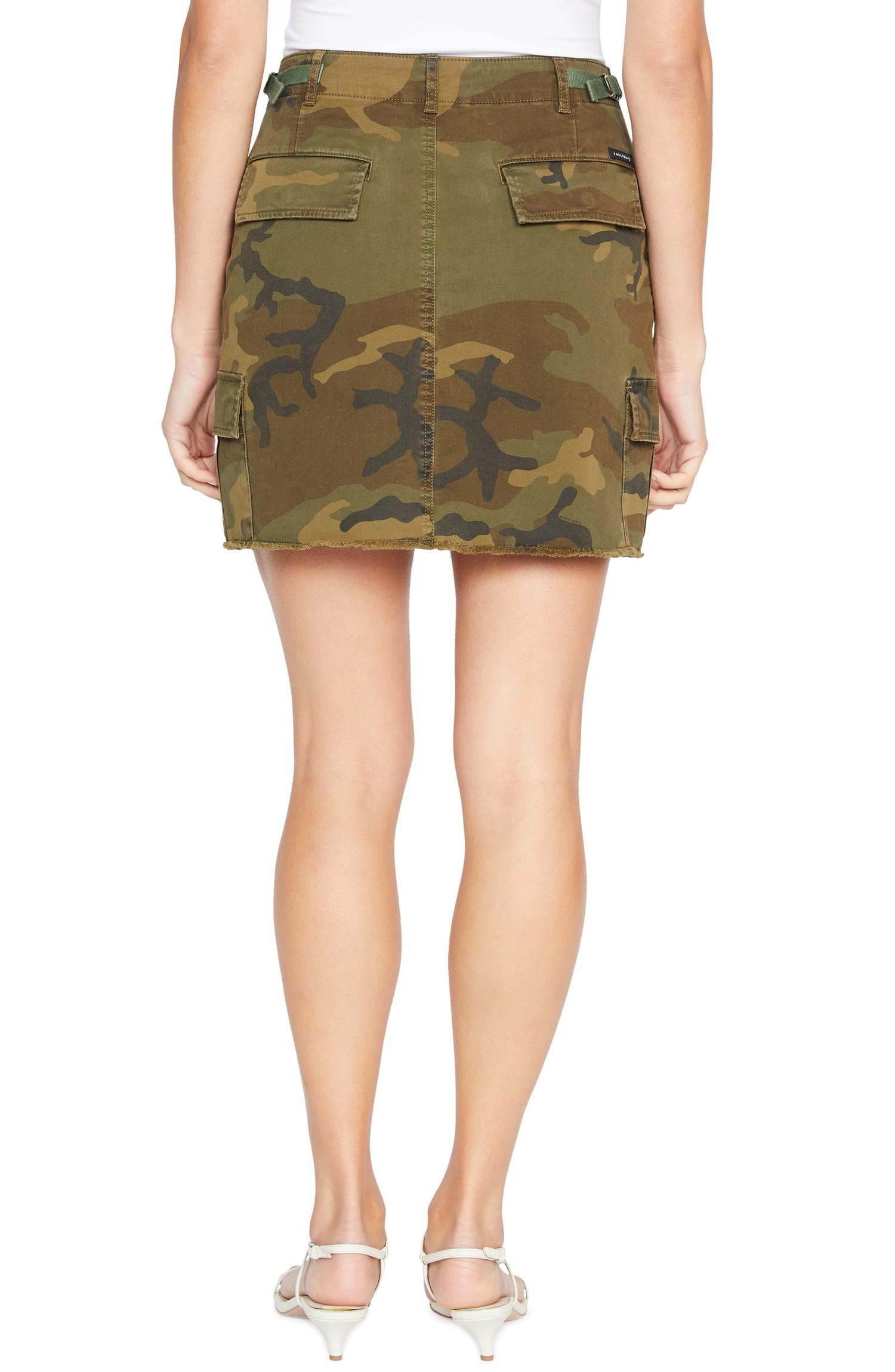 Sanctuary Womens Beige Camoflauge Casual Mini Cargo Skirt 28 BHFO 7197