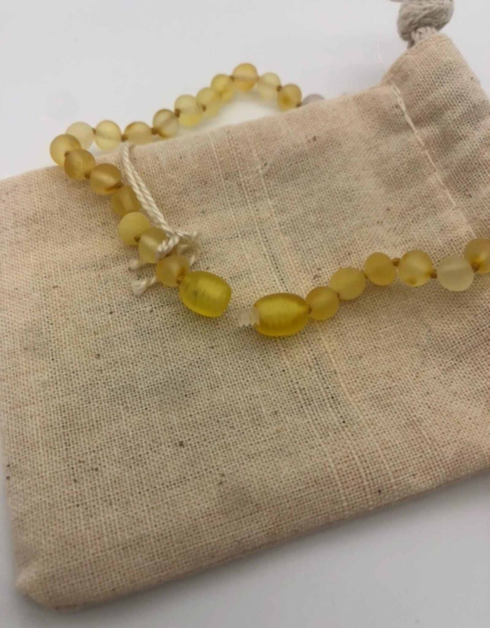 Canyon Leaf Canyon Leaf - Raw Honey Amber + Rose Quartz Necklace