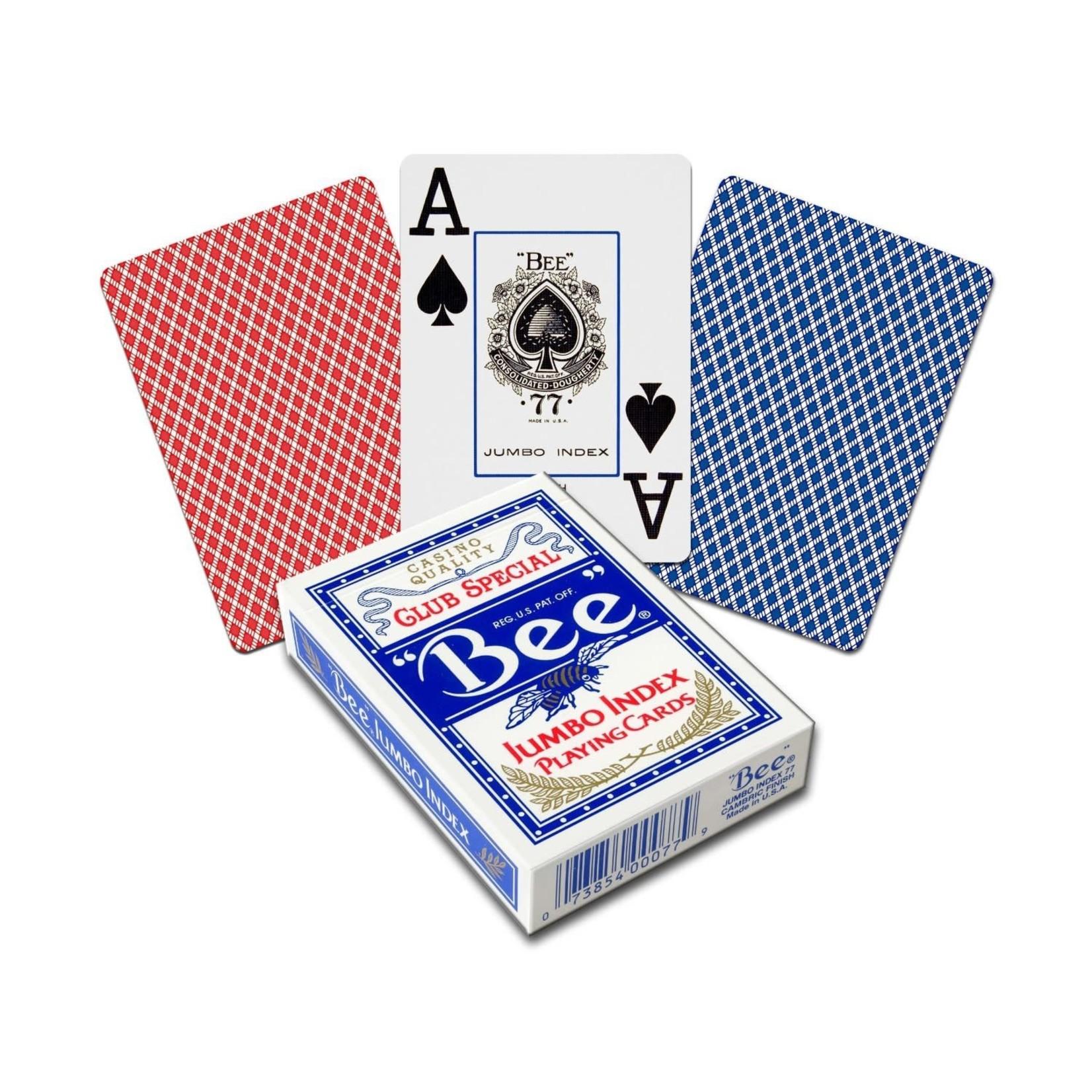 The United States Playing Card Company Bee Poker Diamond Back Jumbo Index