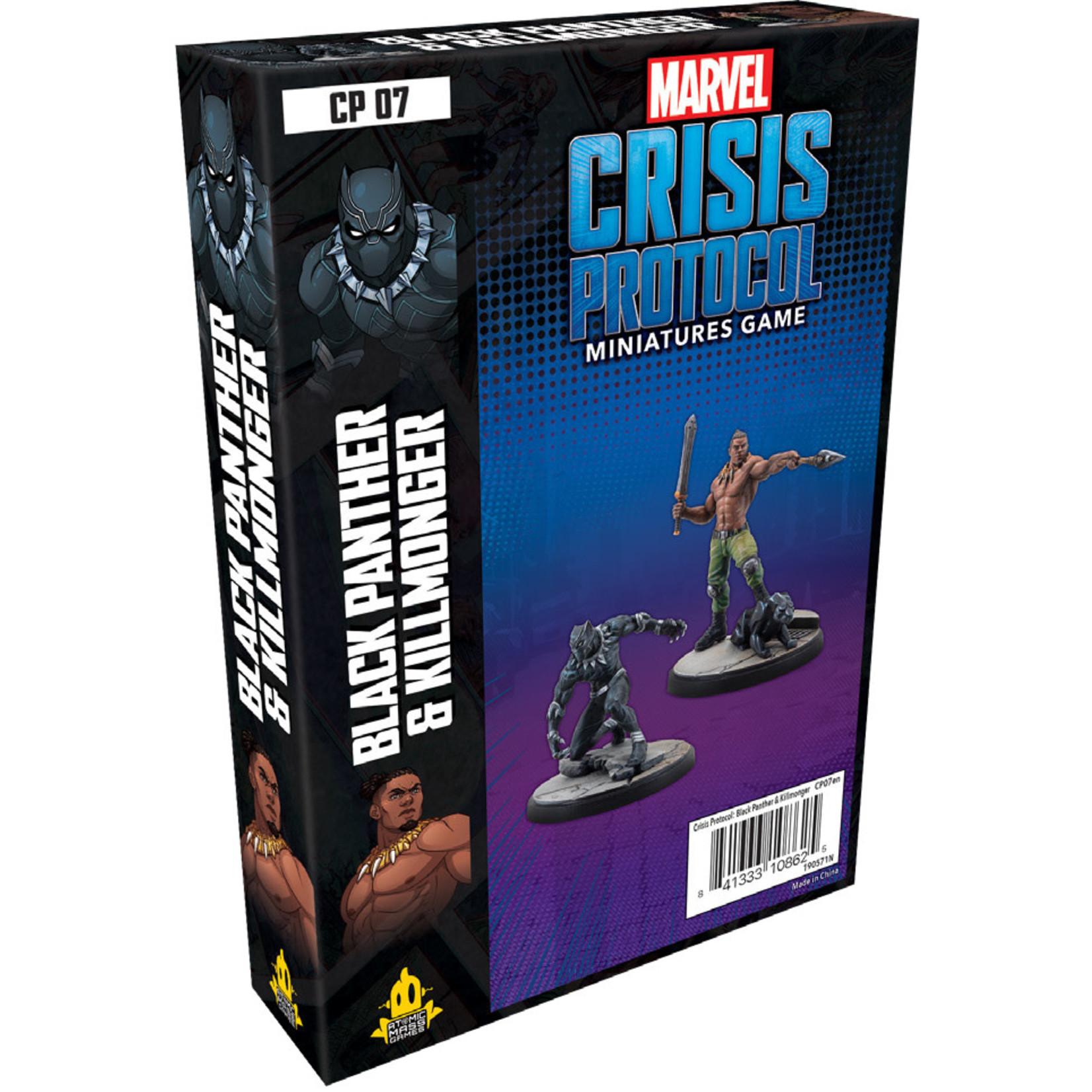 Atomic Mass Games Marvel Crisis Protocol - Black Panther & Killmonger Character Pack