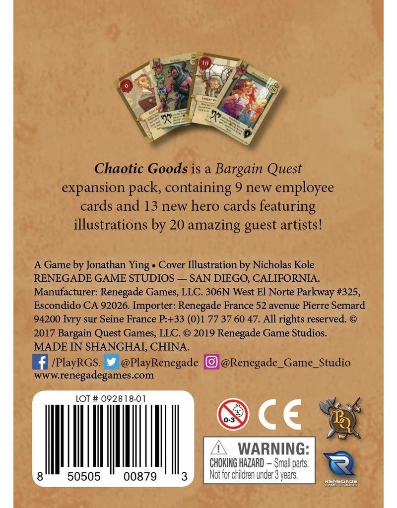 Renegade Game Studios Bargain Quest: Chaotic Goods Expansion