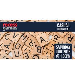 Scrabble Tournament June
