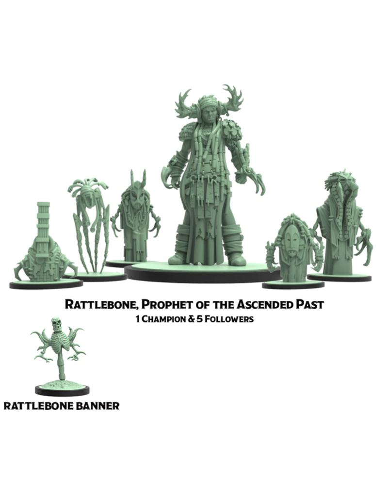Steam Forged Games GodTear Rattlebone Prophet of the Ascended Past & Hexlings