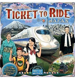 Days of Wonder Ticket to Ride Japan & Italy Map Collection V7