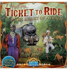ANA Days of Wonder Ticket to Ride Heart of Africa Map Collection V3