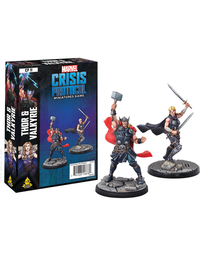 Asmodee Studios MCP Thor and Valkyrie Character Pack
