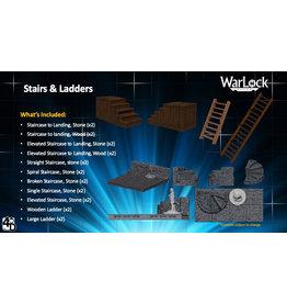 WIZKIDS/NECA WarLock Tiles: Stairs & Ladders