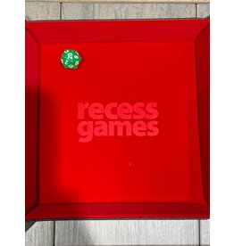 Metallic Dice Games Recess Games Red Velvet Folding Dice Tray