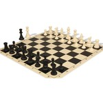 "WorldWise Imports Chess Mat 20"" Black & Ivory Silicone"