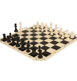 "WorldWise Imports Chess Mat 20"" Black & Ivory Silicone"