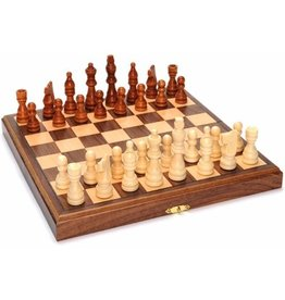 "Wood Expressions Chess Set 11"" Folding Magnetic"