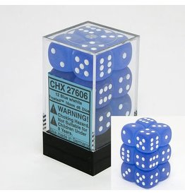 Chessex Frosted Blue white 16mm d6 (12)