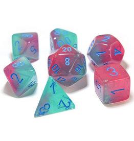 Chessex Gemini Luminary Gel Green/Pink/Blue (7) Lab Dice 3