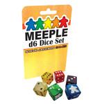 Steve Jackson Games Meeple D6 Dice Set: Black