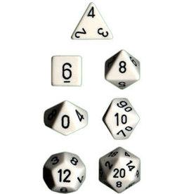 Chessex Opaque White/black 7 die set
