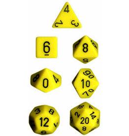 Chessex Opaque Yellow/black 7 die set