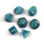Chessex Phantom Teal gold 7 die set