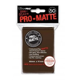 Ultra Pro Pro-Matte Brown Deck Protectors 50ct