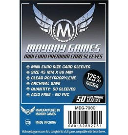 Mayday Games Mini Euro Card Sleeves (45X68MM) Premium 50ct