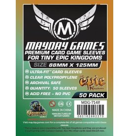 Mayday Games Card Sleeves  88 x 125mm 100 pack Tiny Epic Kingdoms