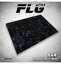 Frontline Gaming FLG Robot City Blue 6x4' Mat