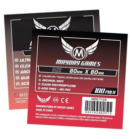 Mayday Games Card Sleeves (80x80mm) 50 Pack Premium Medium Square