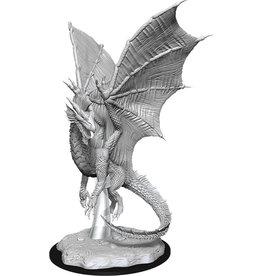 WIZKIDS/NECA D&DMNUM Young Silver Dragon W11