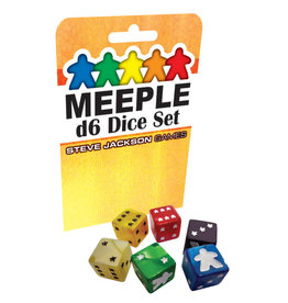 Steve Jackson Games Meeple D6 Dice Set: Blue