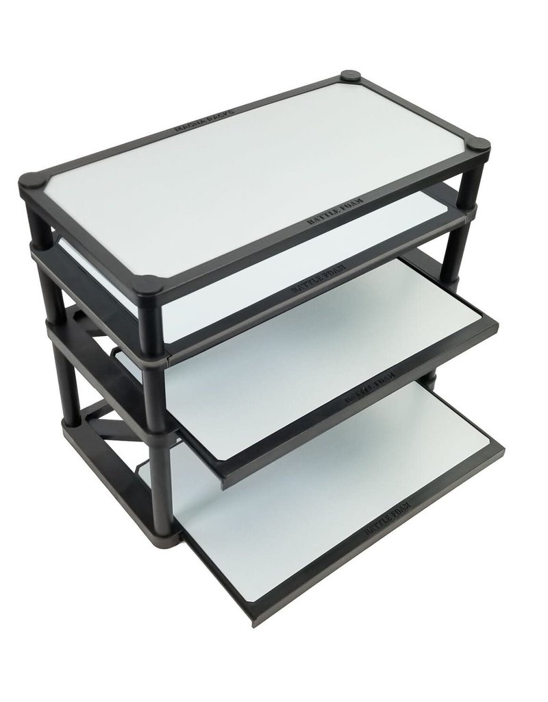 Battle Foam Magna Rack Slider Medium Kit 432 Recess Games Llc The magna rack was designed for those gamers who like to store and transport their miniatures magnetized upright and free from. shop recess games