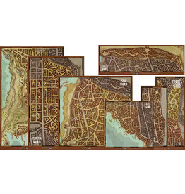 GaleForce Nine D&D Waterdeep Wards Map Set