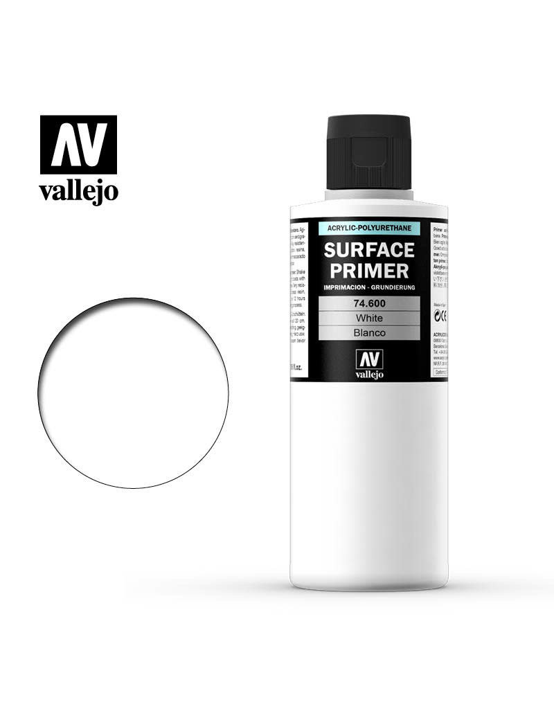 Acrylicos Vallejo Auxiliary Products: White Primer (200ml)