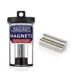 MagCraft Rare Earth Magnet 0.375 x 0.063x 0.125 40ct