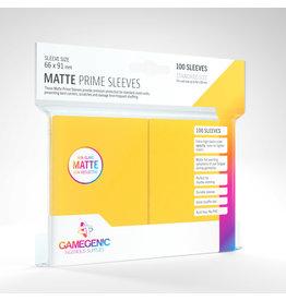 GAMEGEN!C Matte Prime Sleeves Yellow (100) 66 x 91mm