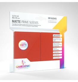 GAMEGEN!C Matte Prime Sleeves Red  (100) 66 x 91mm
