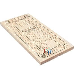WorldWise Imports Cribbage 4-Track Natural Wood Plastic Pegs
