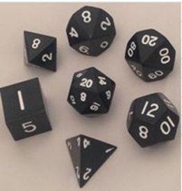 Metallic Dice Games Metal Dice: Black 16mm Poly set