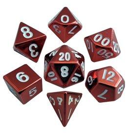 Metallic Dice Games Metal Dice: Red Painted 16mm Poly set