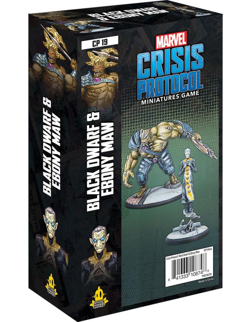 Asmodee Studios Marvel: Crisis Protocol –  Black Dwarf and Ebony Maw Character Pack