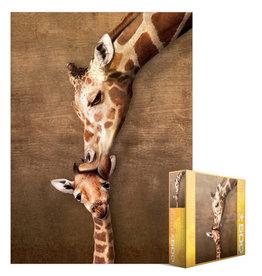 EuroGraphics Giraffe Mother's Kiss 500pc
