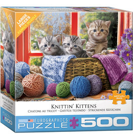 EuroGraphics Knittin' Kittens 500pc