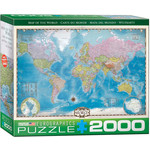 EuroGraphics Map of the World 2000pc
