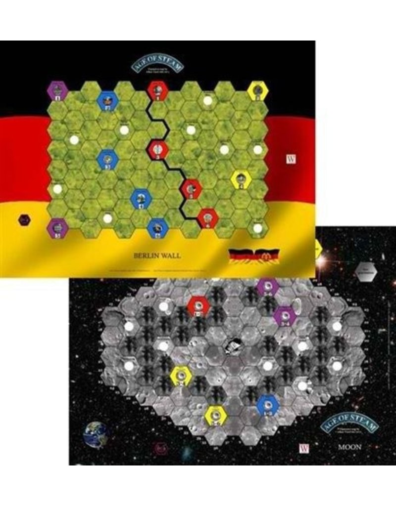 Eagle Gryphon Games Age of Steam Moon & Berlin Wall Map