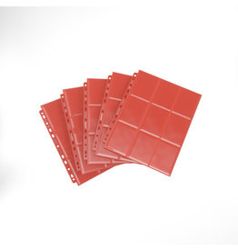 GAMEGEN!C Sideloading 18-Pocket Pages 10 pcs pack Red