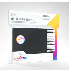 GAMEGEN!C Matte Prime Sleeves Black (100) 66 x 91mm