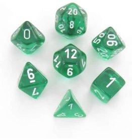 Chessex Translucent Green/White (7)