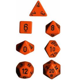 Chessex Opaque Orange/Black Poly 7