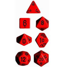 Chessex Opaque Red black 7 die set