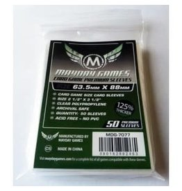 Mayday Games Card Sleeves 63.5 x 88mm (Dark Green Label) 50ct Mayday Premium