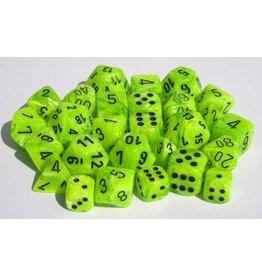 Chessex Vortex Bright Green black 7 die set