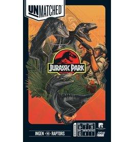 Mondo Games Unmatched Jurassic Park Ingen vs Raptors